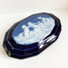 Boîte en céramique bleu