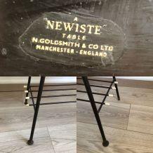 Table basse vintage 1960 anglaise à pieds compas - 75 x 29