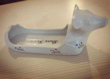 Beurrier 'vache' porcelaine Apilco