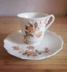 Lot 8 tasses à café avec soucoupes Jammet Seignolles MILLET