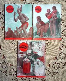 """5 numéros de la revue """"Sciences et voyages"""" - Années 50"""