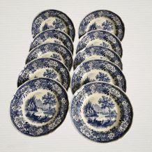 Série de 10 assiettes creuses - Modèle Burgenland