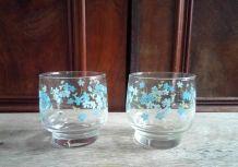 8 verres à eau - Collection Veronica myosotis