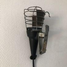 Lampe vintage 1970 baladeuse garage noire