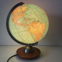 Globe terrestre vintage 1960 Verre JRO Verlag - 35 cm