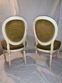 Chaises médaillon style Louis XVI