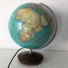 Globe terrestre vintage 1960 verre allemand Colomb - 33 cm