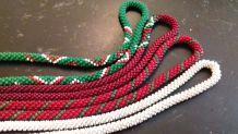 4 colliers perles  de rocaille tissées