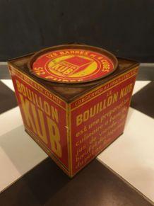 Grande boîte publicitaire métallique ancienne Kub