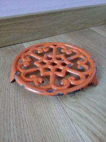 Dessous de plat en fonte émaillée orange