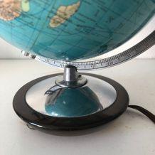 Globe terrestre vintage 1960 verre allemand Colombus - 26 cm
