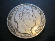 5 francs LOUIS  PHILIPPE 1 . 1838 W Argent dans capsules de