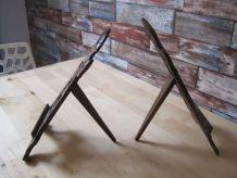 2 portes photos ancien en bois travailler