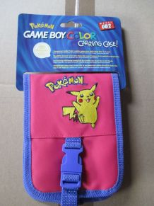 sacoche de rangement pour Game Boy Color Pokémon rose