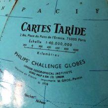 Grand globe terrestre vintage 1976 Taride  - 40 cm