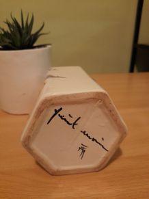 Bouteille céramique blanche, pour digestif