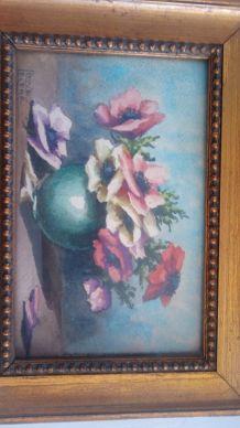 Peinture ancienne Louise le cerf