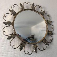 Miroir soleil vintage 1960 oeil de sorcière - 45 cm