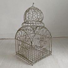 Cage à oiseaux vintage 60's