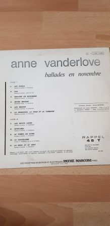 Vinyle Anne Vanderlove