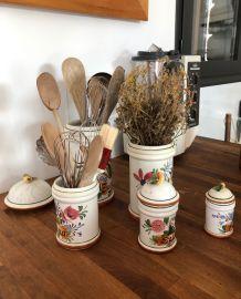 Série de 6 pots de cuisine
