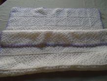 Plaid patchwork berceau