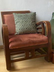 Charmant fauteuil vintage de style colonial