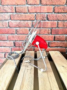 Ventilateur vintage rouge et blanc marque FB