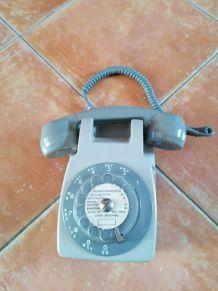 Téléphone Mural,CDT, 1973. Beige.Ericsson.PTT