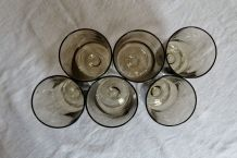 Lot 6 verres à pied vintage