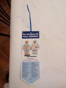SNCF marchandise.Étiquette publicitaire, bagage, marque page
