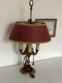 Lampe a poser laiton breloques vintage