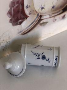Pot ancien à coton en porcelaine Limoges