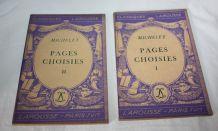 Livres Classiques Larousse Vintage Michelet Pages Choisies