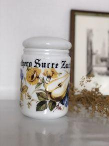 Pot à sucre  en opaline vintage
