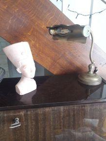 jolie lampe de bureau annee 50 en bronze ou laiton