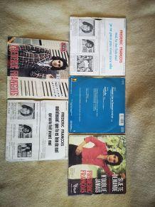 lot 5 disques 45 tours frédéric François