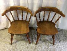 Paire de chaises style Western  – années 60/70