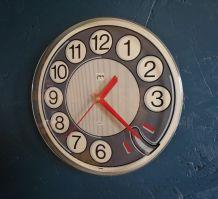"""Horloge vintage, pendule murale """"Japy Grise"""""""