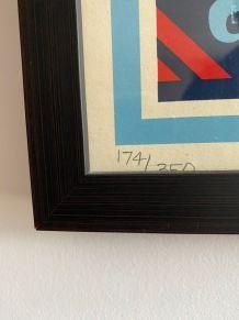 """Rare Lithographie """"Rock the vote"""" 2008 par Shepard Fairey"""