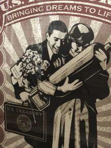 "Rare Lithographie ""Proud parents"" par Shepard Fairey Numérot"