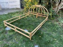 Cadre de lit en rotin et bambou 140x190