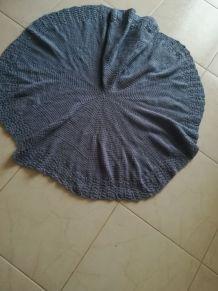 Plaid bébé circulaire crochet