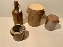 Série Pots et bouteille Grès
