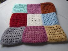 Plaid patchwork crocheté