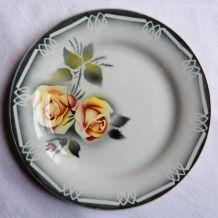 Lot 4 assiettes plates Digoin