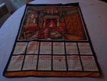Torchon calendrier 1966