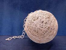 suspension boule corde vintage années 60 style audoux minet