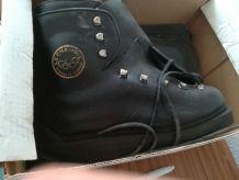Chaussures ski cuir 60s