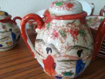 Service thé vintage japonais porcelaine fine